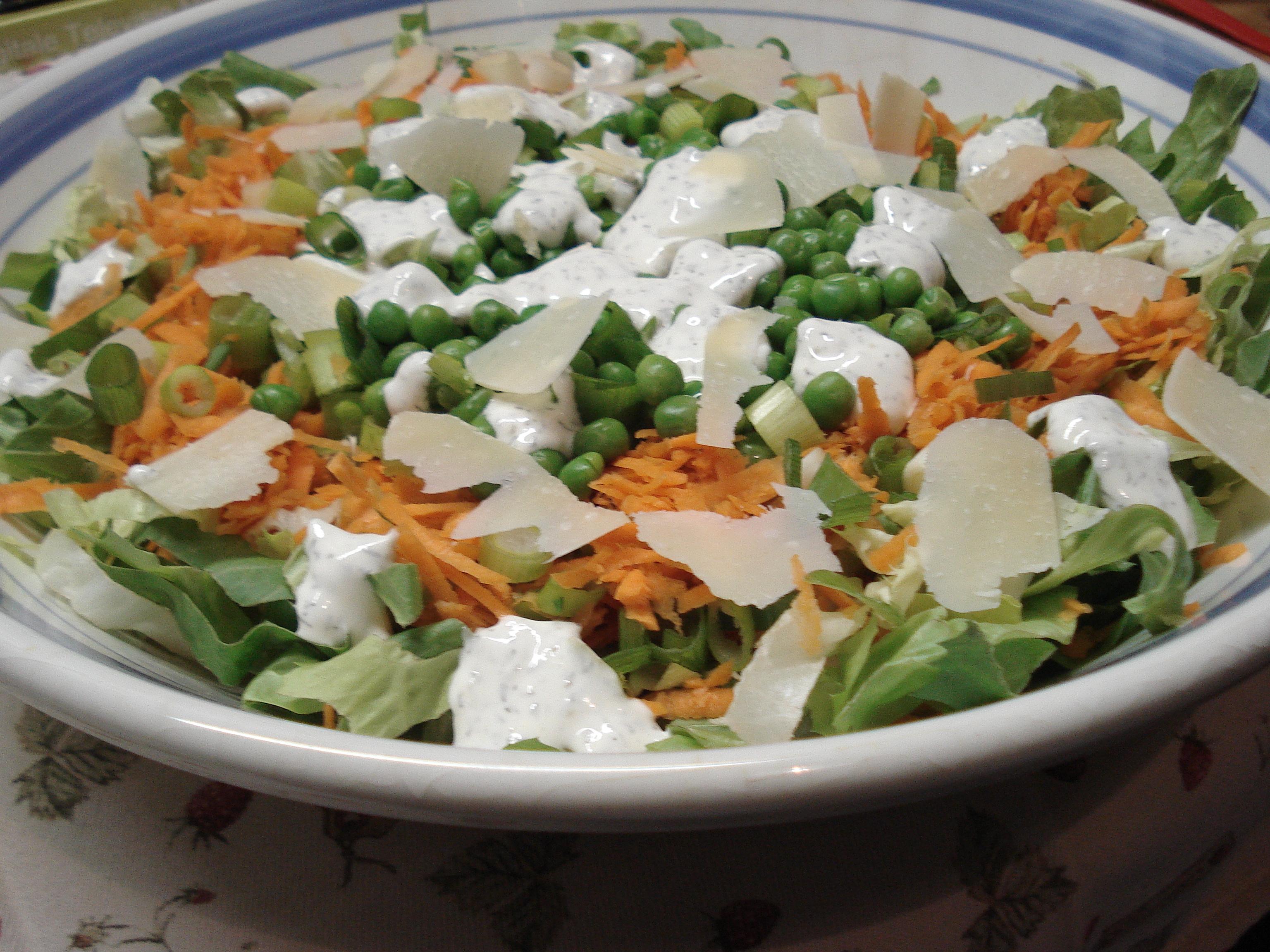 Geen zeven maar zes lagen salade