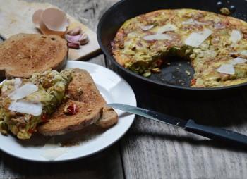 Frittata met artisjokharten