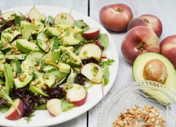 Salade met wilde perzik