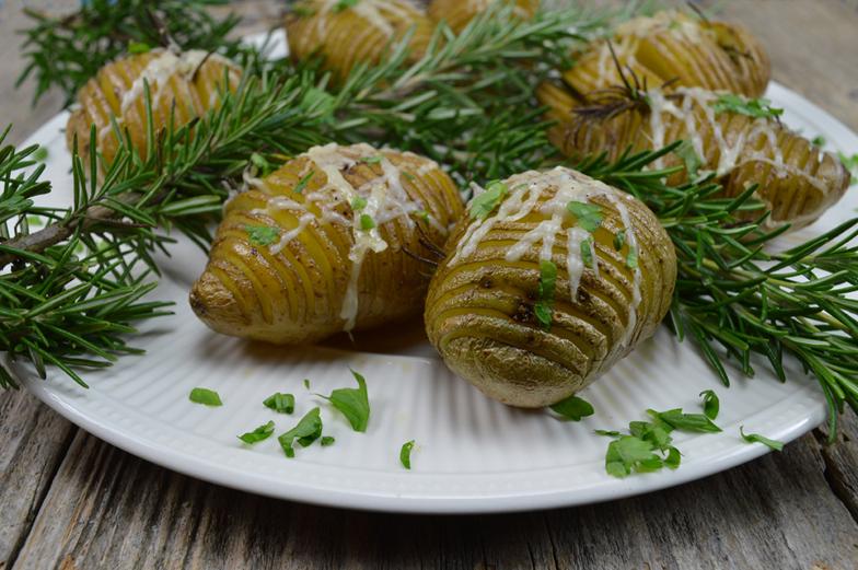 Hasselbacks aardappelen