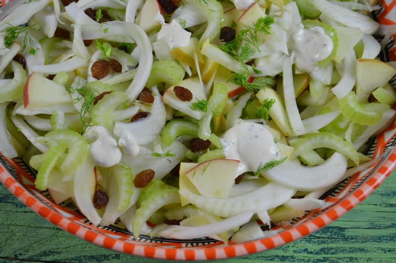 Venkel-bleekselderij-salade