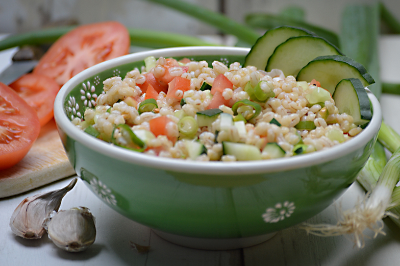 Salade met parelgort