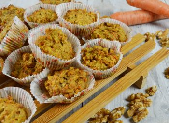 Carrot cake muffins met havermout