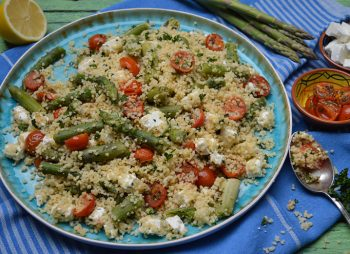 Couscous met groene asperges
