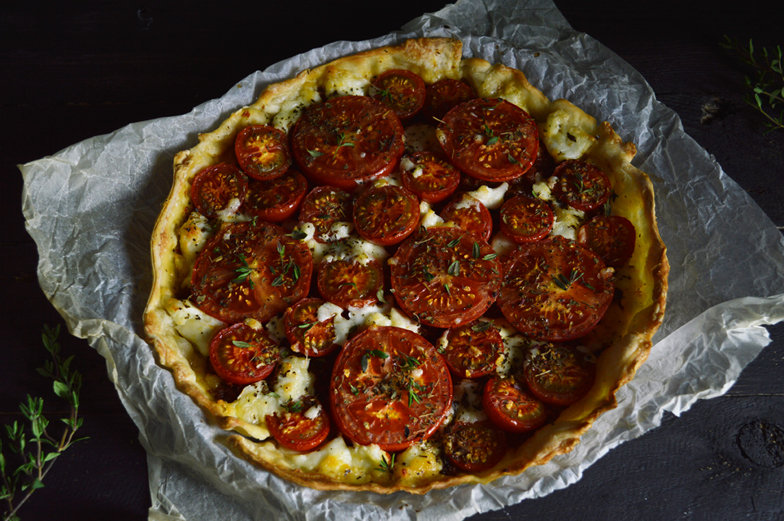 zomerse tomatentaart