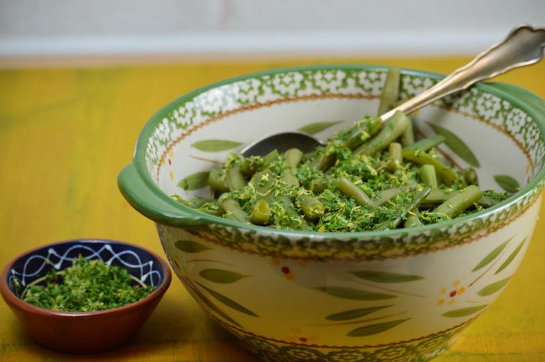 Groene groenten met gremolata