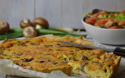 Hartige champignon-kaastaart