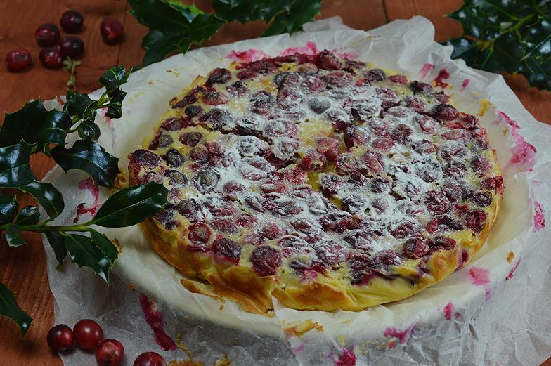 Clafoutis met cranberries