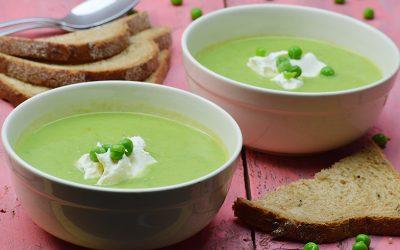 Zomerse soep van velderwtjes
