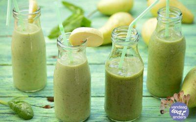 Groene smoothies met peer