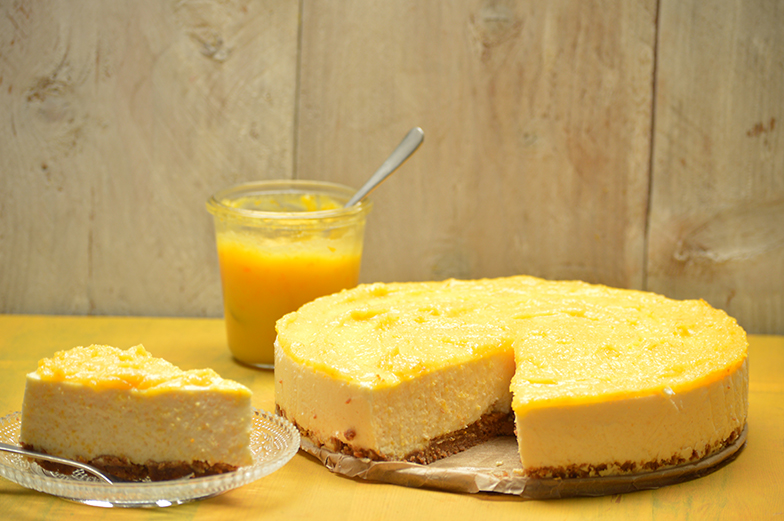 Kwarktaart met orange curd