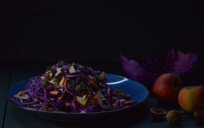 Salade van paarse spitskool