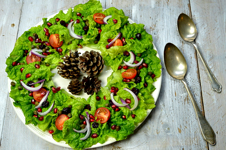 Kerstkrans salade