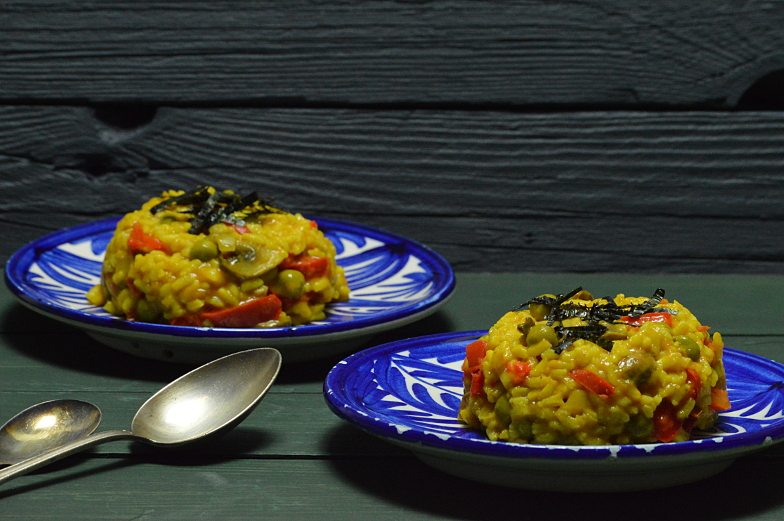 Paella met champignons